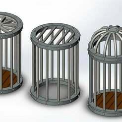 round_cages_comparison.JPG Télécharger fichier STL gratuit Collection de cages rondes pour les jeux de table • Plan imprimable en 3D, Boubamazing