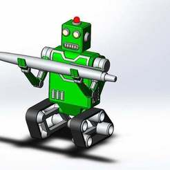 robot_2.JPG Download free STL file robot pencil holder • 3D printing design, Boubamazing