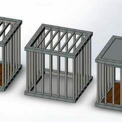 cube_cages_comparison.JPG Télécharger fichier STL gratuit Collection de cages en cube 2 pour les jeux de table • Modèle à imprimer en 3D, Boubamazing