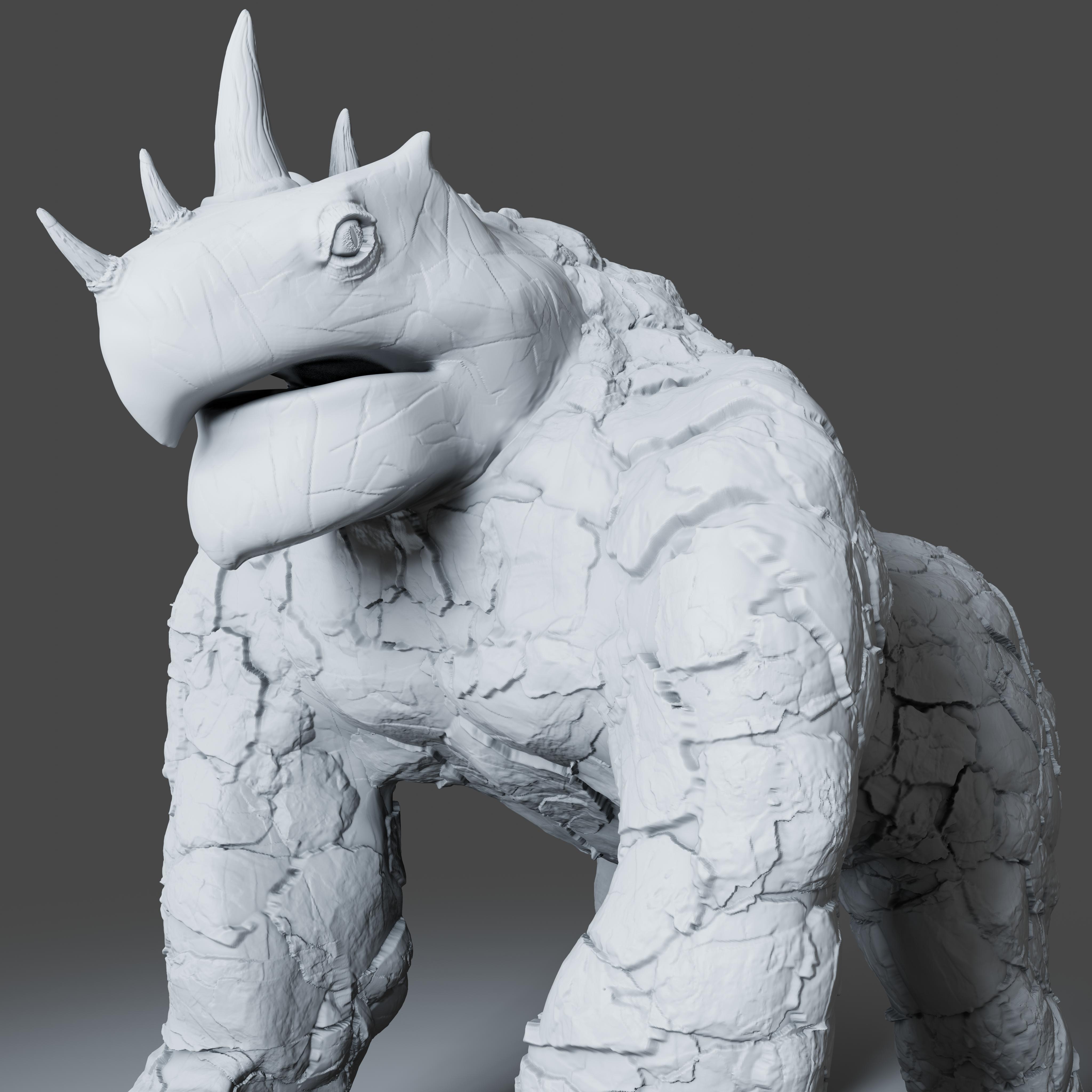 Preview4.jpg Download STL file Gorilla Turtle Monster - 3D Print Model • 3D printer object, DudeX