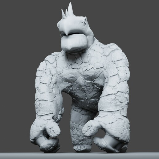 Preview7.jpg Download STL file Gorilla Turtle Monster - 3D Print Model • 3D printer object, DudeX