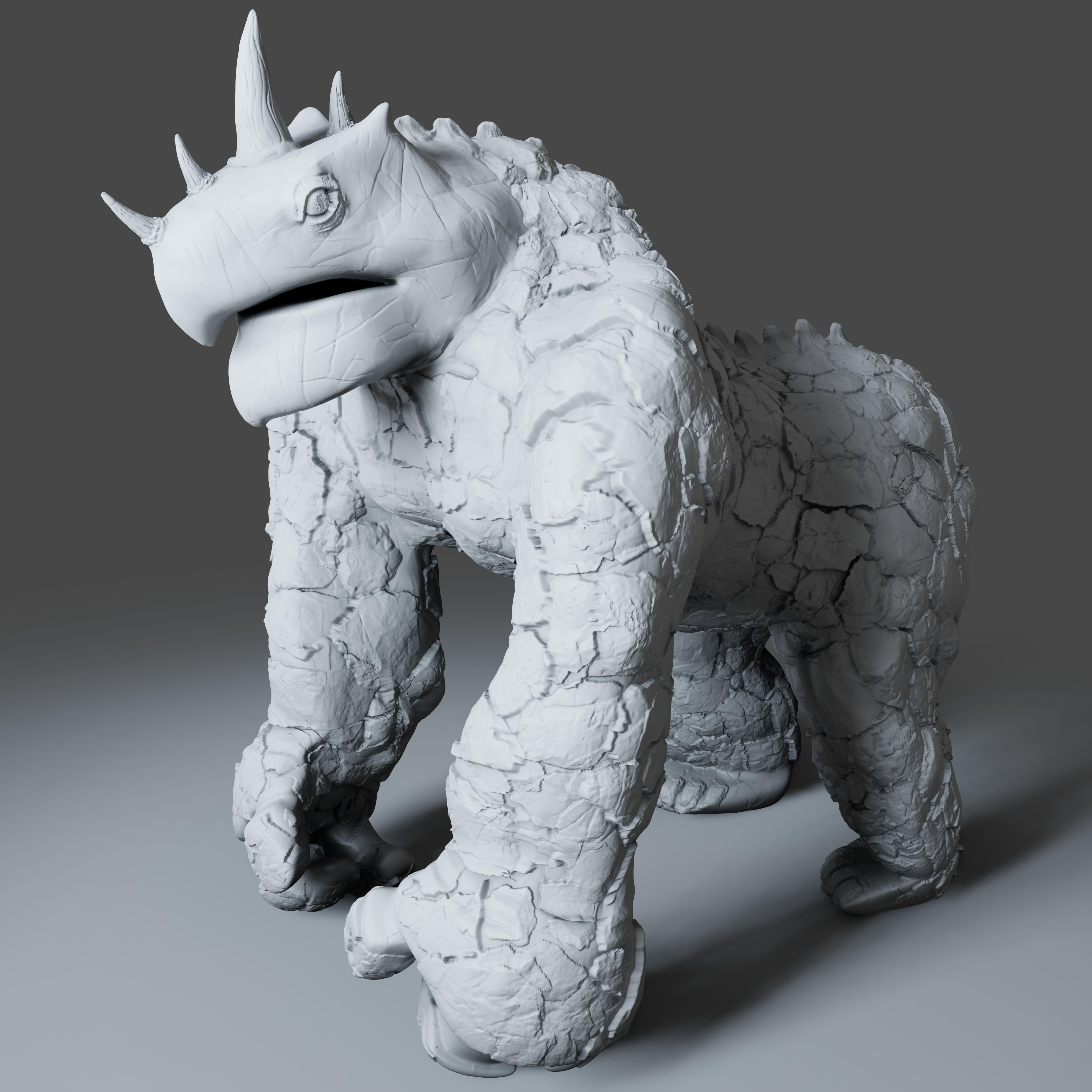 Preview2.jpg Download STL file Gorilla Turtle Monster - 3D Print Model • 3D printer object, DudeX