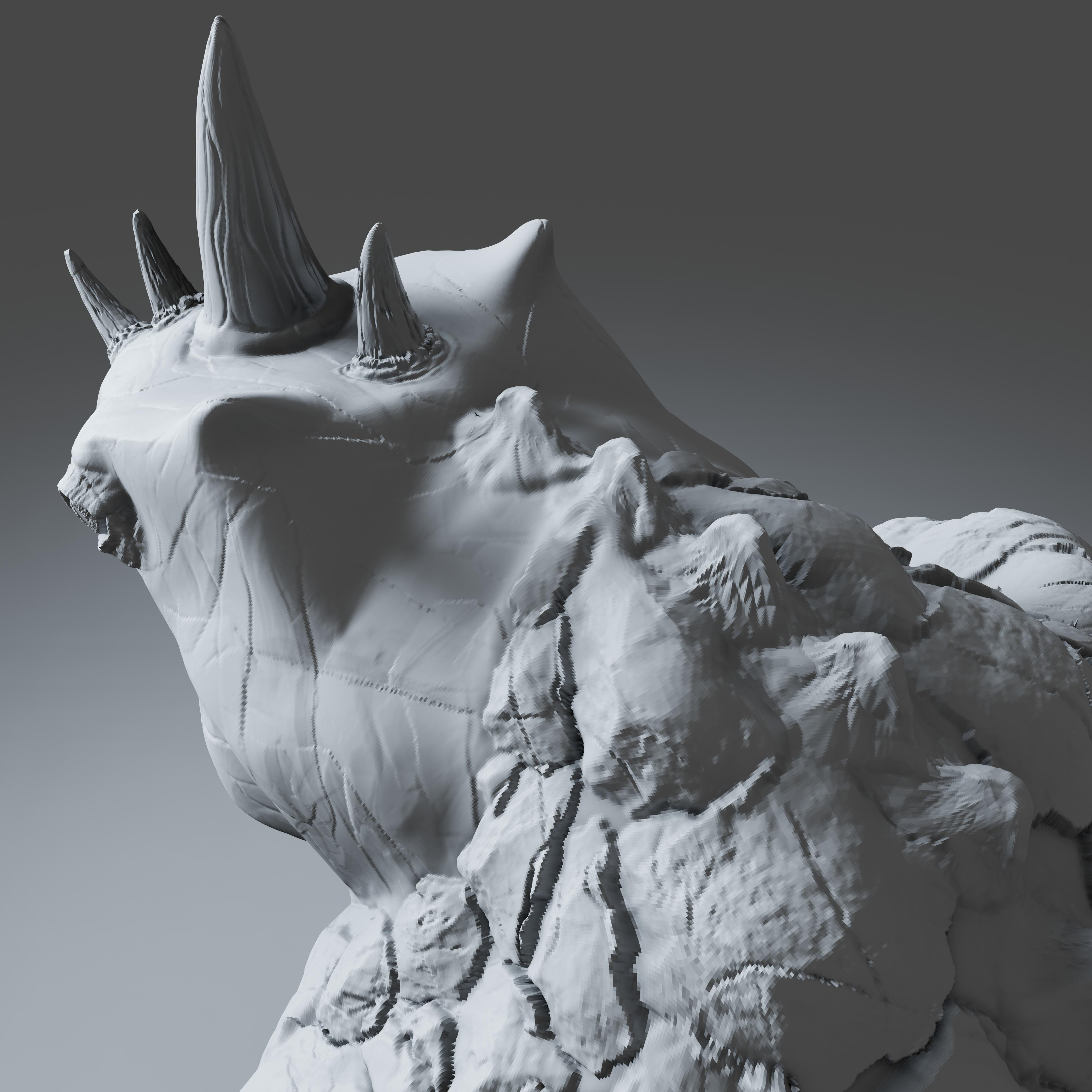 Preview10.jpg Download STL file Gorilla Turtle Monster - 3D Print Model • 3D printer object, DudeX