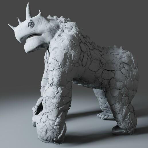 Preview3.jpg Download STL file Gorilla Turtle Monster - 3D Print Model • 3D printer object, DudeX