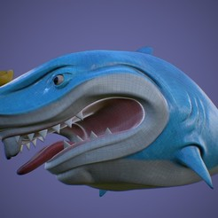 Preview6.jpg Download free STL file Sharkie The Wuss 3D Print Model • 3D print object, DudeX