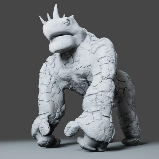 Preview1.jpg Download STL file Gorilla Turtle Monster - 3D Print Model • 3D printer object, DudeX