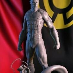 Siniestro Fix — копия.jpg Télécharger fichier STL gratuit Lanterne jaune Sinestro Impression 3D de la figure • Plan à imprimer en 3D, STLHero
