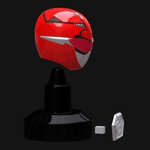 Screenshot_5.jpg Download STL file Go Busters / Beast Morphers Mini Helmet 3D Print Model • Design to 3D print, HeroesProps