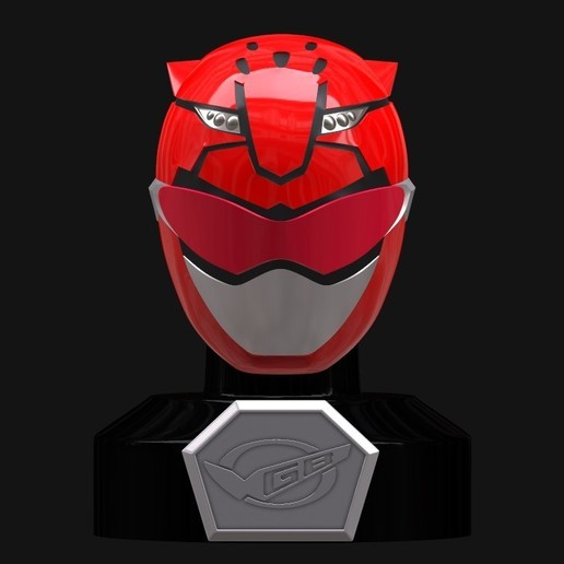 Screenshot_3.jpg Download STL file Go Busters / Beast Morphers Mini Helmet 3D Print Model • Design to 3D print, HeroesProps