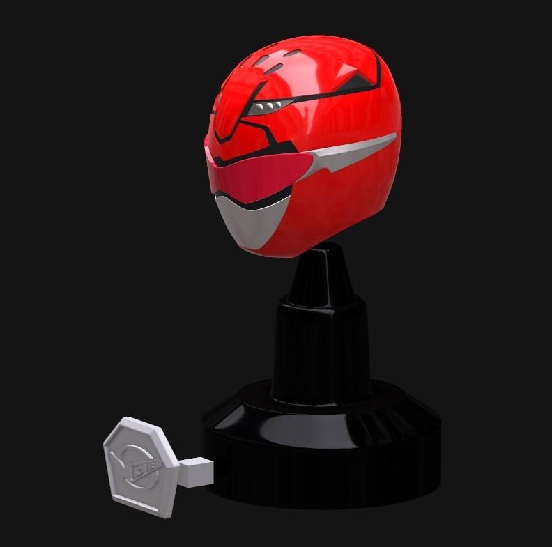 Screenshot_4.jpg Download STL file Go Busters / Beast Morphers Mini Helmet 3D Print Model • Design to 3D print, HeroesProps