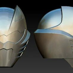 Screenshot_3.jpg Télécharger fichier STL Red Jungle Fury Helmet Power Rangers • Design pour impression 3D, STLHero