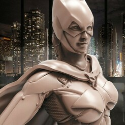 2.jpg Télécharger fichier STL Figurine 3D de Bat Girl • Objet imprimable en 3D, STLHero