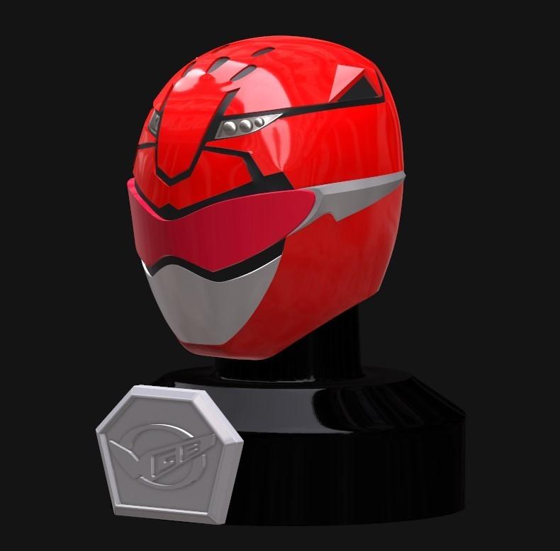 Screenshot_2.jpg Download STL file Go Busters / Beast Morphers Mini Helmet 3D Print Model • Design to 3D print, HeroesProps