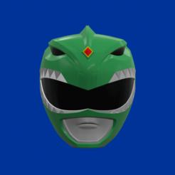 screenshot000.png Télécharger fichier STL Mighty Morphin Green Helmet modèle 3d pour impression 3d • Plan pour impression 3D, STLHero