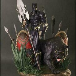 1.jpg Download free STL file Black Panther figure 3D printing • 3D printable model, STLHero