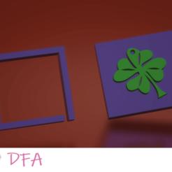 Trebol.png Download STL file clover pendant mould • 3D printer design, DFA