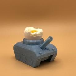 """FAV1.JPG Télécharger fichier STL Egg-Tank """"mange ça, b*tch"""" • Objet pour impression 3D, poorcactus"""