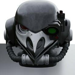 Render 1.jpg Télécharger fichier STL gratuit Elite Broody Magpie Helmet - SpecOps. • Objet pour impression 3D, Daetis