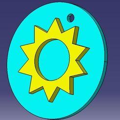 Sun.JPG Download STL file sun talisman • 3D printer template, korleamihai