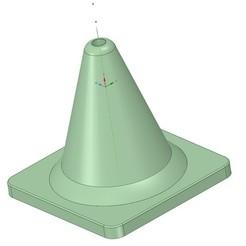 1.jpg Télécharger fichier OBJ gratuit Cône de signalisation routière • Modèle pour impression 3D, Gerul