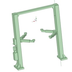 1.jpg Download OBJ file two column lift - podnośnik samochodowy • 3D printer template, Gerul