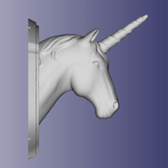 Screenshot_78.png Download free STL file Unicorn Wall Plaque • Template to 3D print, CalculatedChaos