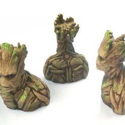 Groot2_preview_featured.jpg Download free STL file Bust of GROOT • 3D printer design, XisPina