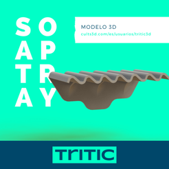Soap tray.png Download STL file Soap tray • 3D printable model, tritic3d