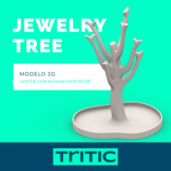 Jewelry tree presentación.png Download STL file Jewelry Tree • 3D print template, tritic3d