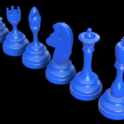 All Complex.png Download STL file CHESS PIECES SIMPLE DESIGN 2 • 3D printable template, Vi3Designs