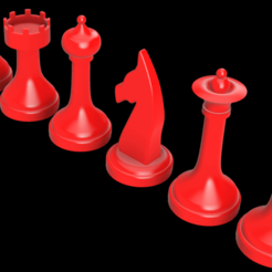 All Simple.png Download STL file Chess Pieces Simple Design  • 3D printer template, Vi3Designs