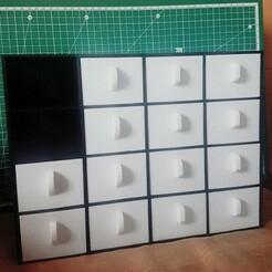 casier_3.JPG Télécharger fichier STL gratuit Boite de rangement 16 cases • Modèle à imprimer en 3D, Kri2sis
