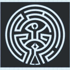 maze.jpg Download free STL file Westworld Maze - Stencil • 3D printer template, 3dnudel