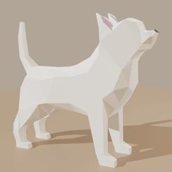 ChihuahuaAll.png Télécharger fichier STL gratuit Chien LowPoly (Chihuahua) • Objet imprimable en 3D, Krashadar3D