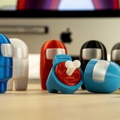 AmongUs1.jpg Télécharger fichier STL gratuit Entre nous • Modèle à imprimer en 3D, Mike_Maker3D