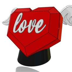 CAMODECO3D - Lovebox.JPG Download STL file Love box heart shaped box with angel wings • Model to 3D print, CamoDeco3D