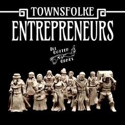 720X720-entrepreneurs-render.jpg Télécharger fichier STL Townsfolke : Entrepreneurs • Plan pour impression 3D, illgottengames