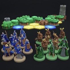720X720-photo-oct-15-10-52-24-am.jpg Download STL file Pocket-Tactics: Core Set - Legion of the High King against the Tribes of the Dark Forest • 3D print object, illgottengames