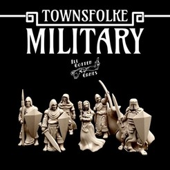 720X720-military-render.jpg Download STL file Townsfolke: Military • 3D printer model, illgottengames