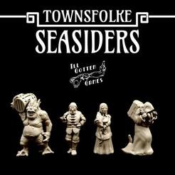 720X720-seasiders-render.jpg Télécharger fichier STL Townsfolke : Seasiders • Plan pour imprimante 3D, illgottengames