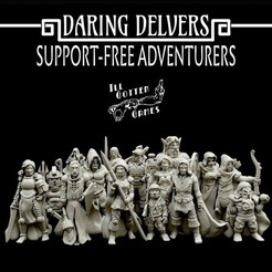 720X720-photo-nov-03-4-48-41-pm.jpg Download free STL file Daring Delvers: Support-Free Adventurers • 3D printable model, illgottengames