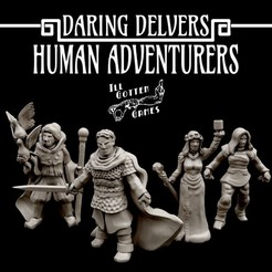 720X720-photo-dec-07-1-28-02-pm-1.jpg Download STL file Daring Delvers: Human Adventurers • 3D printing template, illgottengames