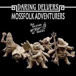 720X720-photo-dec-07-11-22-24-am.jpg Télécharger fichier STL Daring Delvers : Les aventuriers de la Mossfolk • Design pour impression 3D, illgottengames