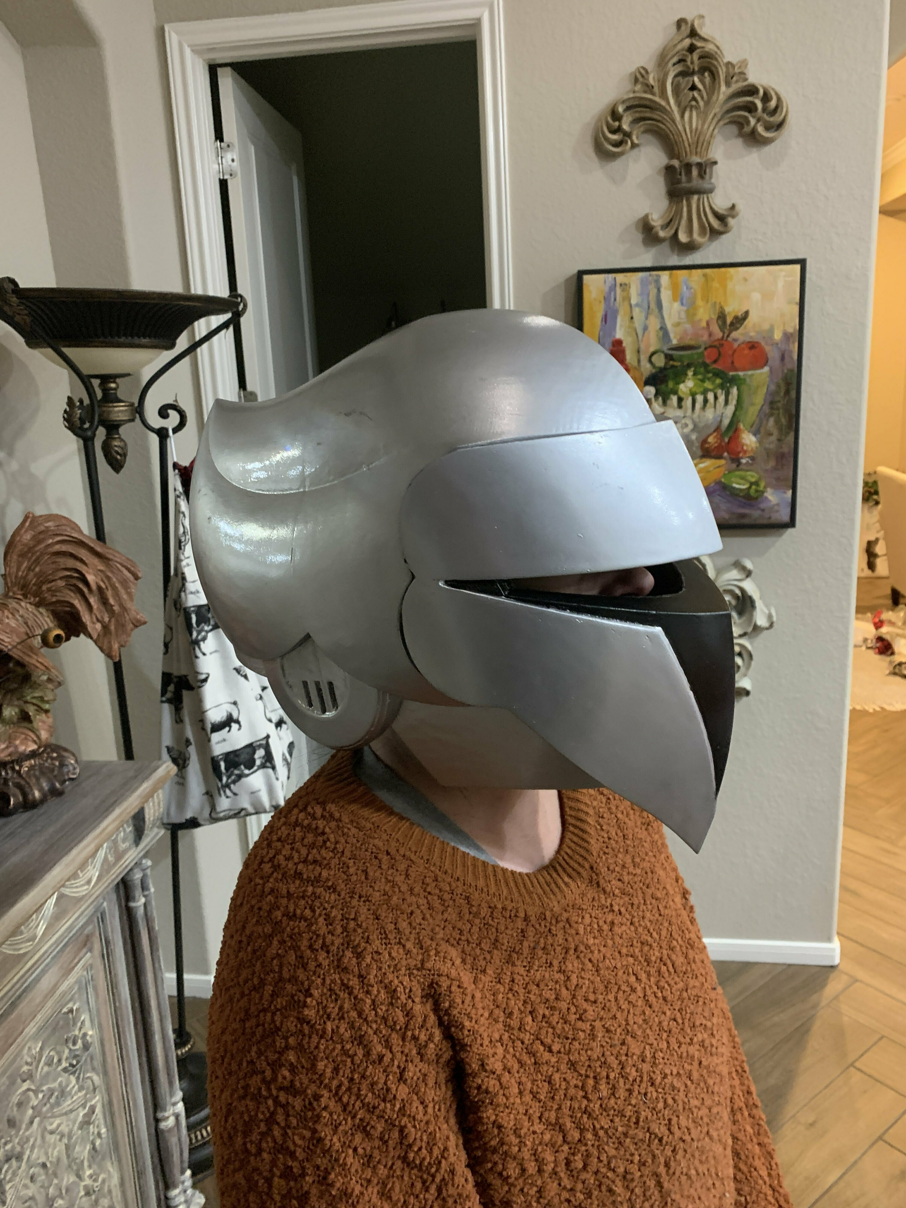 Download STL file Silverhawks helmet with Stand • 3D printer object, bobdole122333