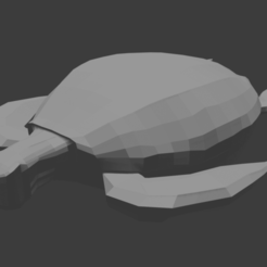 Low.Poly.Turtle.png Download STL file Turtle - Low Poly • 3D printing design, AR-Kam