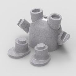 BotPlusOne Planter v2.jpg Télécharger fichier STL Bot Plus One - Version jardinière succulente • Objet pour impression 3D, BotPlusOne