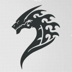Ekran görüntüsü 2020-11-21 172617.png Download STL file dragon wall decoration • 3D print object, YunusKiraz