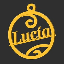 Lucia.jpg Download STL file Lucia • Template to 3D print, merry3d