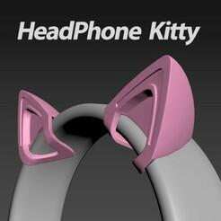 HeadphoneKitty1.jpg Télécharger fichier STL Kitty pour téléphone portable • Design imprimable en 3D, merry3d