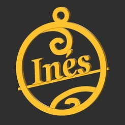 Ines.jpg Download STL file Ines • Object to 3D print, merry3d